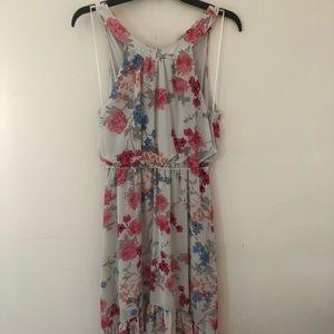 Elle Floral Hi-Lo Dress Size S